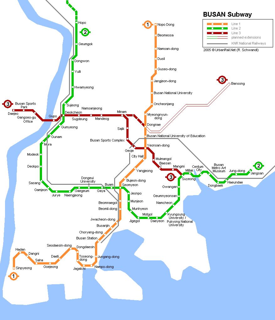 Схема метро Бусаня.