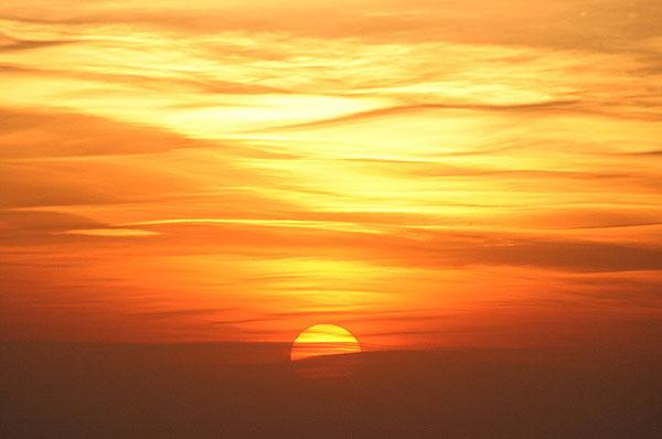 Закат над морем / Фото из Франции