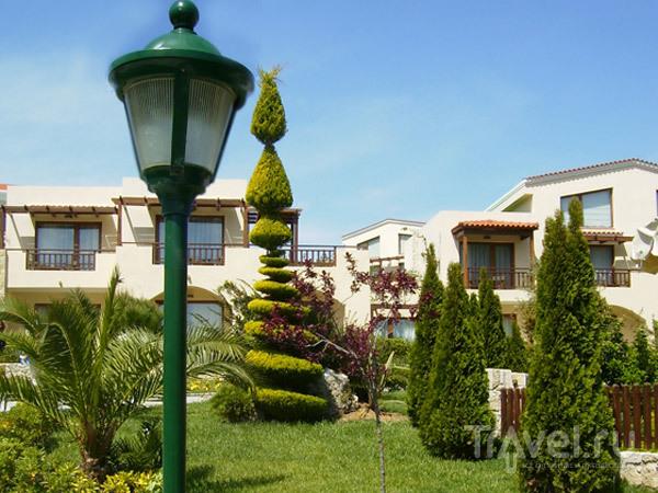 Одни гостиницы радуют изысканным ландшафтным дизайном... / Фото из Греции