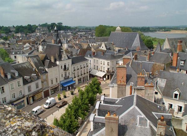 Вид с замковой стены на город / Фото из Франции