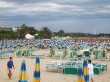 Пляж San Benedetto del Tronto ранним утром