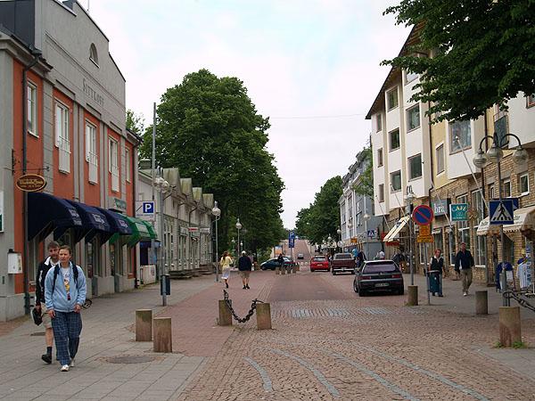 Torggatan - центр Марианхамина / Фото из Финляндии