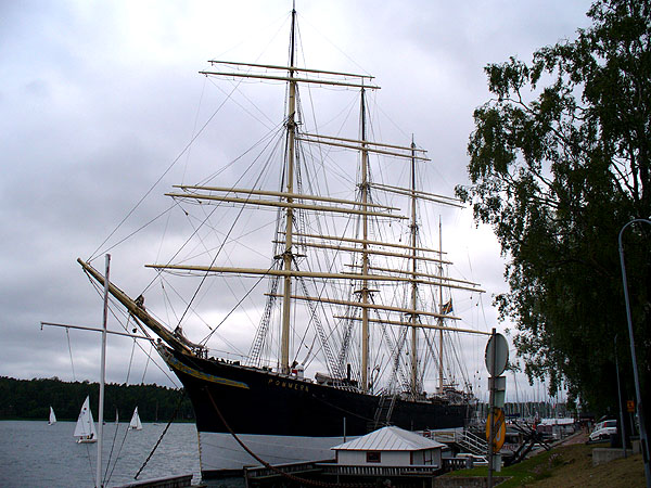 Шхуна-музей Pommern / Фото из Финляндии