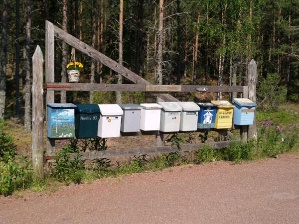 Почтовые ящики для местных жителей / Фото из Финляндии