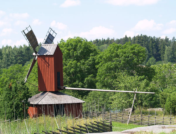 Аландская мельница / Фото из Финляндии