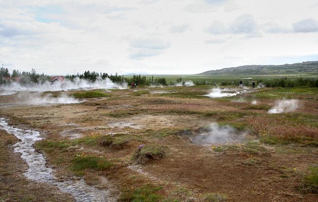 Долина с гейзерами / Фото из Исландии