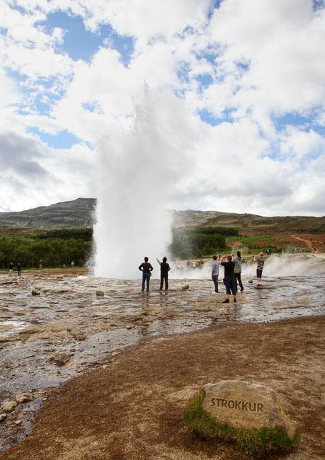 Гейзер Strokkur / Фото из Исландии