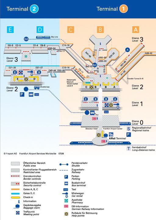 Карта аэропорта / Германия