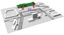 Схема расположения остановки транспорта / Россия