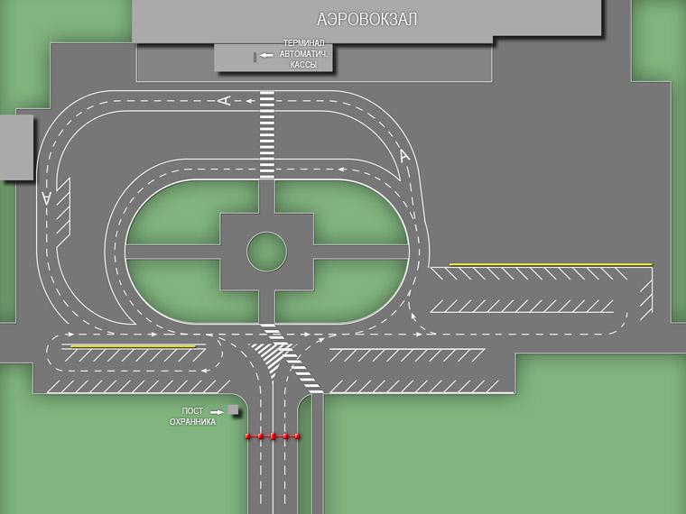 Схема движения и парковки