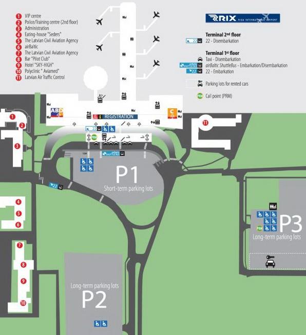 Остановка автобуса находится на противоположной стороне от аэропорта, пожалуйста обратитесь к схеме ниже.
