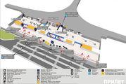 Схема уровня прилета, 1 этаж, терминал D / Россия