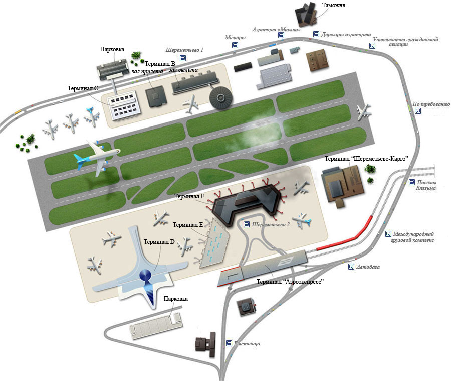 Схема аэропорта / Россия