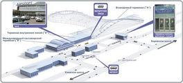 Схема привокзальной площади / Россия