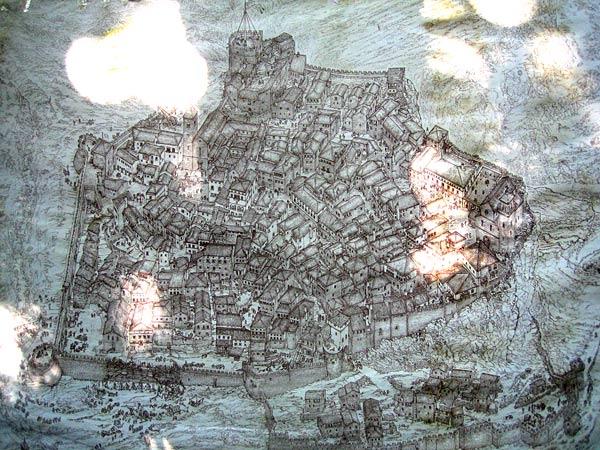 Схема крепости / Фото из Черногории