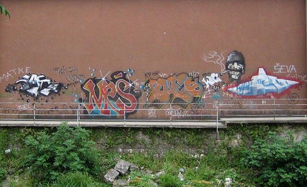 Рисунки на стенах / Фото из Черногории