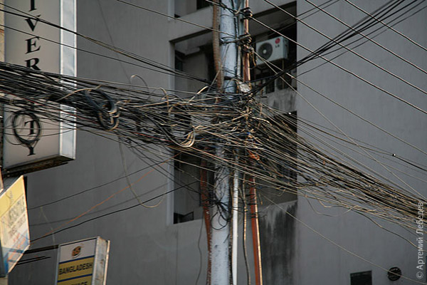 Провода / Фото из Бангладеш