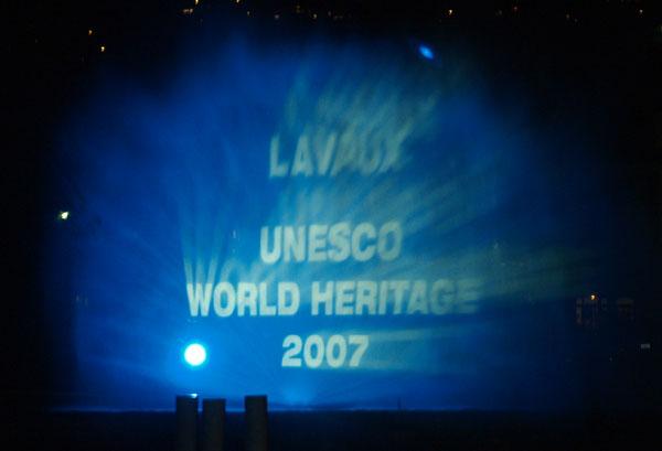 О празднике в Лаво было видно с другого берега Женевского озера / Фото из Швейцарии
