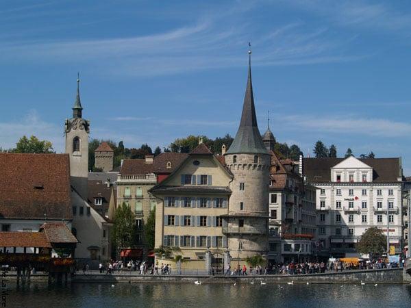 На берегу озера / Фото из Швейцарии