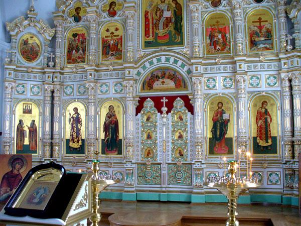 Иконостас верхнего храма, Воскресенский скит / Фото из России