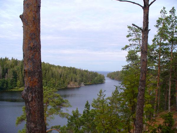 Вид на Валаамский архипелаг с горы Елион / Фото из России