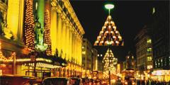 Лондон украшен рождественской иллюминацией