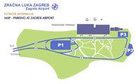схема парковки в аэропорту Загреб / Хорватия