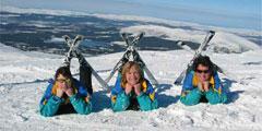 На горнолыжных курортах Чехии достаточно снега