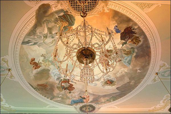 Потолок в доме Черноголовых / Фото из Латвии