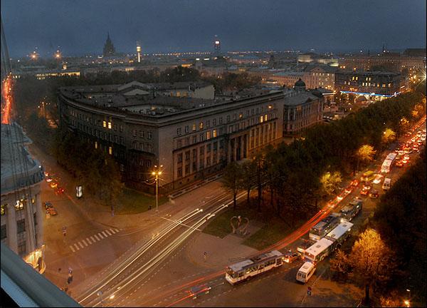 Вид из окна номера на 13-м этаже / Фото из Латвии