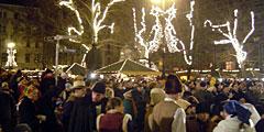 Рождественская ярмарка проходит в Будапеште