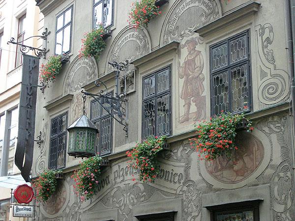 Расписные домики в Брно / Фото из Чехии