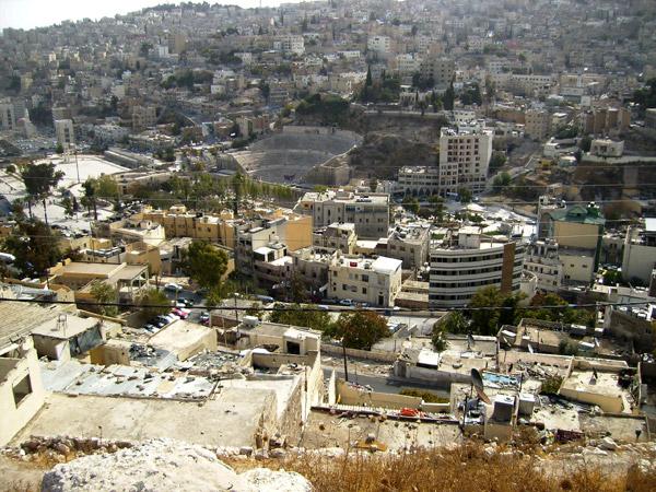 Вид на Амман / Фото из Иордании