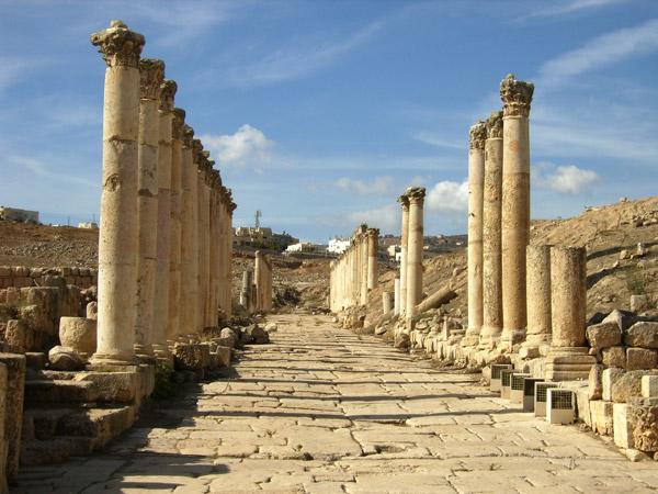 Древние постройки в Джераше / Фото из Иордании