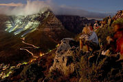 вид на ночной Кейптаун / ЮАР