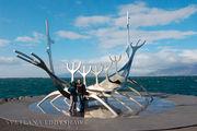 Скогар. Памятник - Корабль Викингов / Исландия