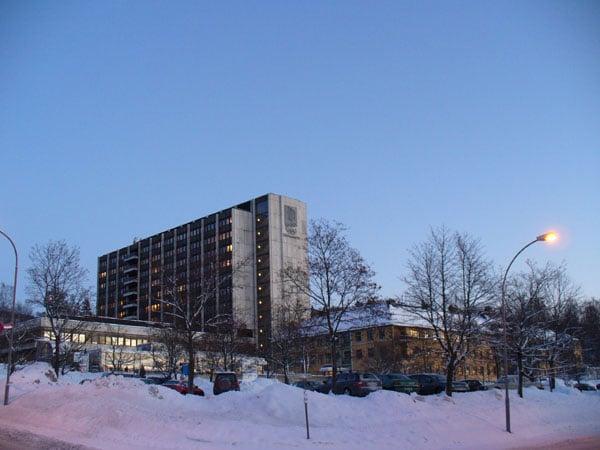 Больница - самое большое здание в Лиллехаммере / Фото из Норвегии