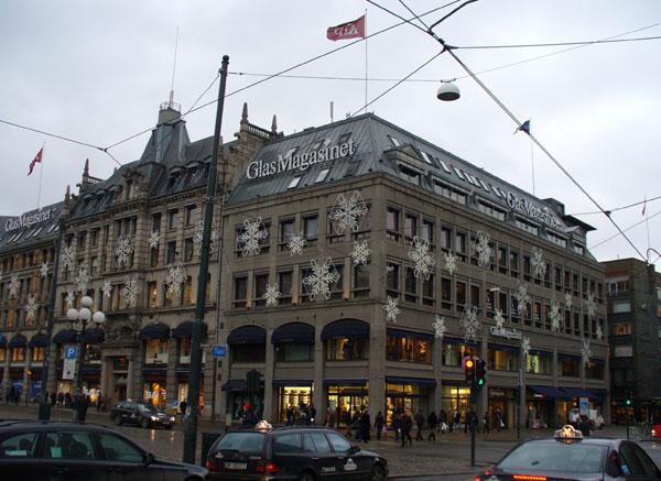 Торговый центр в снежинках, Осло / Фото из Норвегии