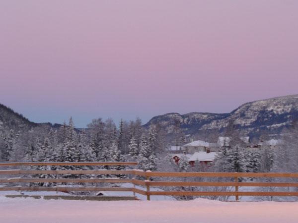 Рассвет в долине Хафьеля / Фото из Норвегии