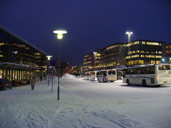 Автобусная станция и вокзал Лиллехаммера / Фото из Норвегии