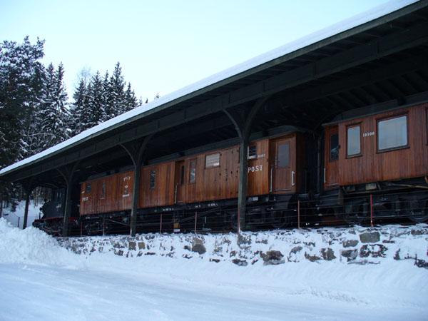 Почтовый поезд в музее транспорта / Фото из Норвегии