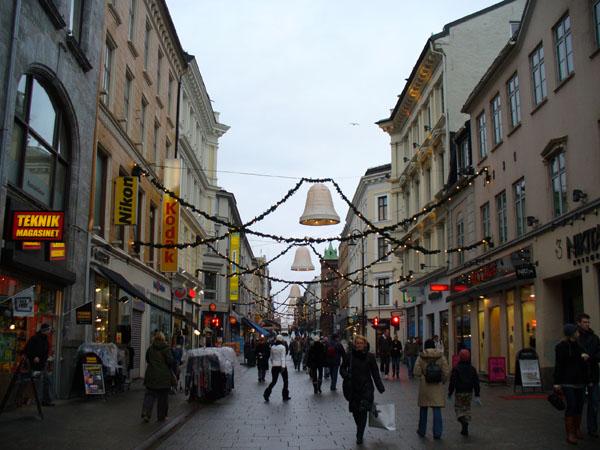 Центральная улица Осло / Фото из Норвегии