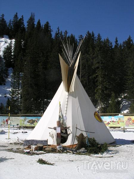 Индейское поселение в Куршевеле / Фото из Франции