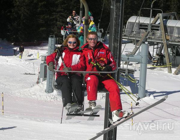 Инструктор French Ski School с ученицей / Фото из Франции
