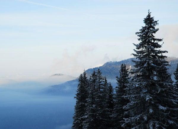 Вид с одного из горных склонов, курорт Ясна / Фото из Словакии