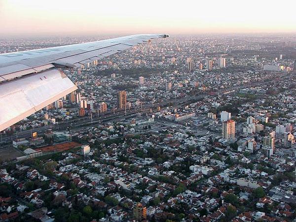 Полет над Буэнос-Айресом / Фото из Аргентины