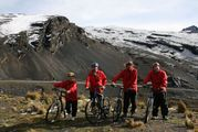 участники велопробега / Боливия