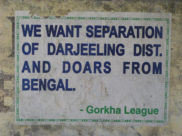 """Free Darjeeling"" - на плакатах и растяжках / Фото из Индии"