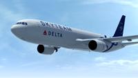 самолет Delta в ливрее SkyTeam