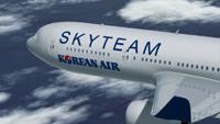 самолет Korean Air в ливрее SkyTeam